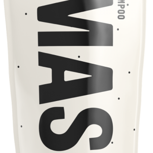 Mast shampoo tube in beige with black dots and the black Mast logo covering most of the side.